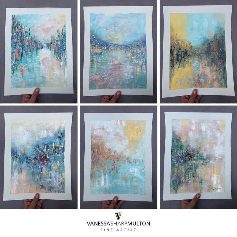 Original Abstract Art by Vanessa Sharp Multon